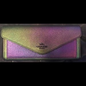 Coach hologram tote and wallet